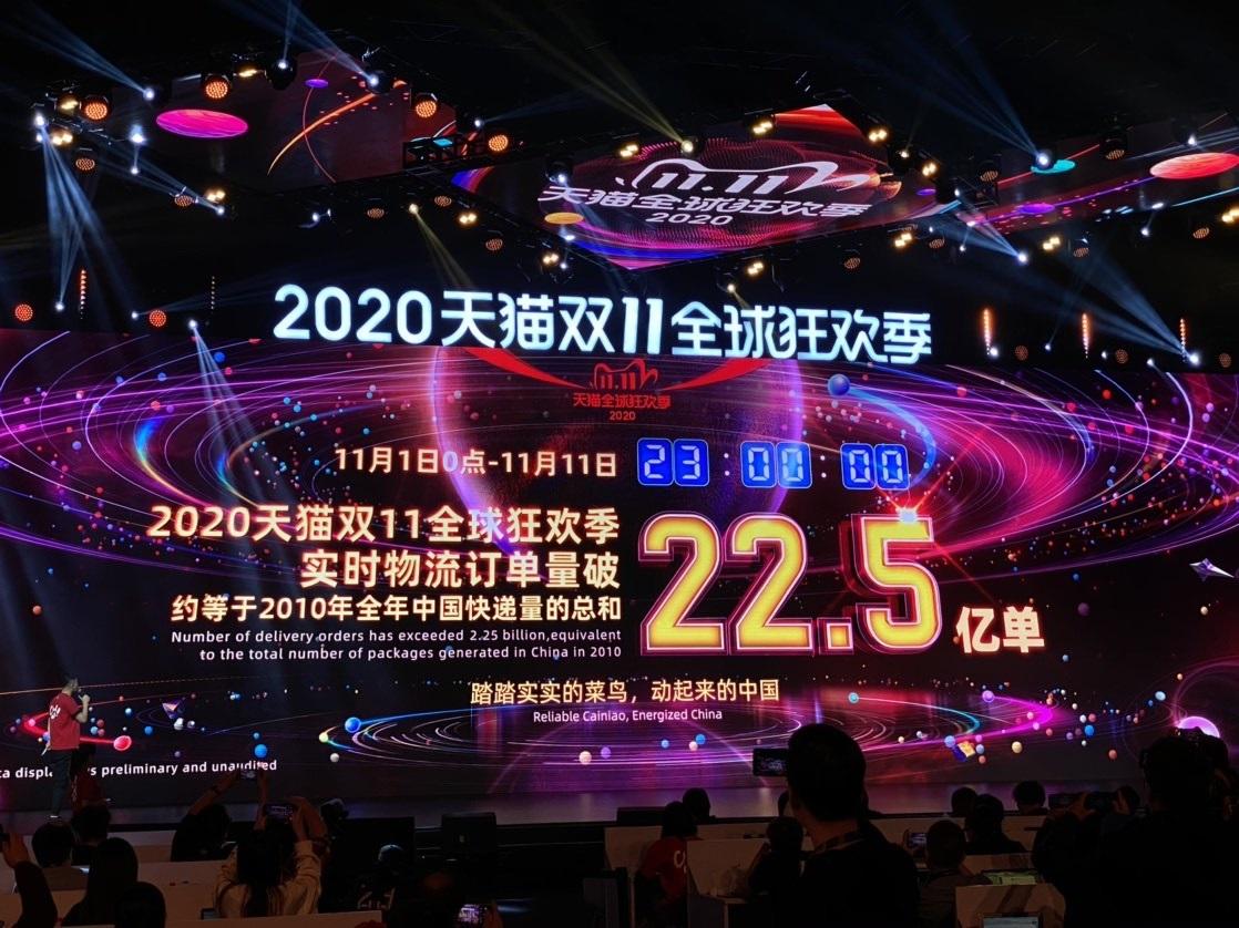 天猫公布双11最新数据 天猫双11全球狂欢订单量破 22.5 亿单